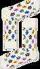Witte HAPPY SOCKS Sokken TEDDYBEAR - small