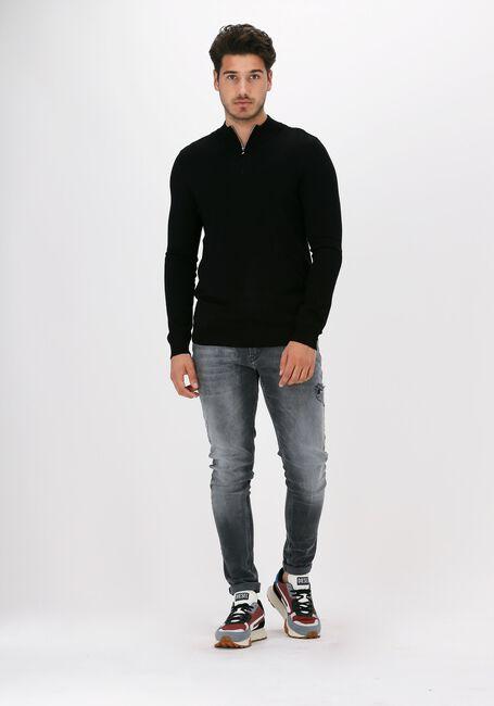 Zwarte PUREWHITE Trui ESSENTIAL KNIT HALF ZIP - large