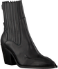 Zwarte NUBIKK Enkellaarsjes ROMEE MOC  - small