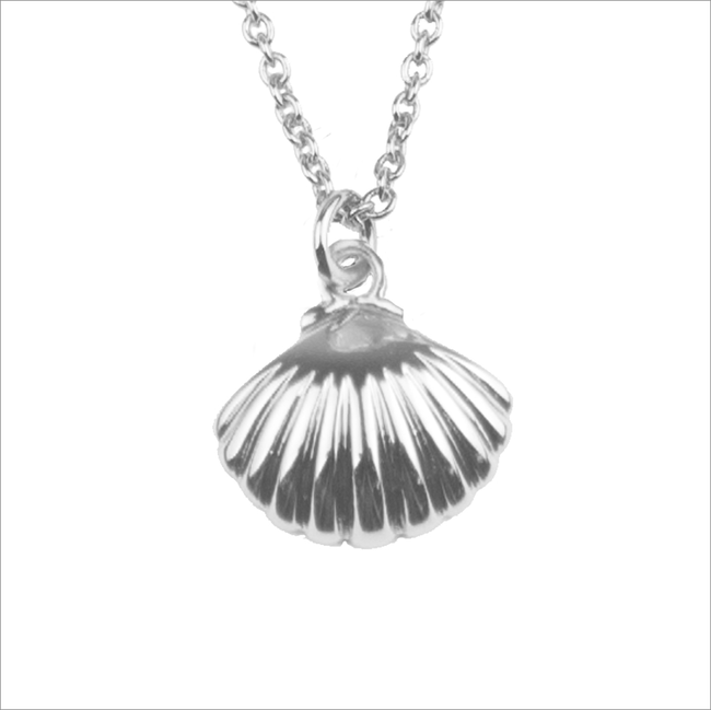 Zilveren ATLITW STUDIO Ketting SOUVENIR NECKLACE SEA SHELL - large