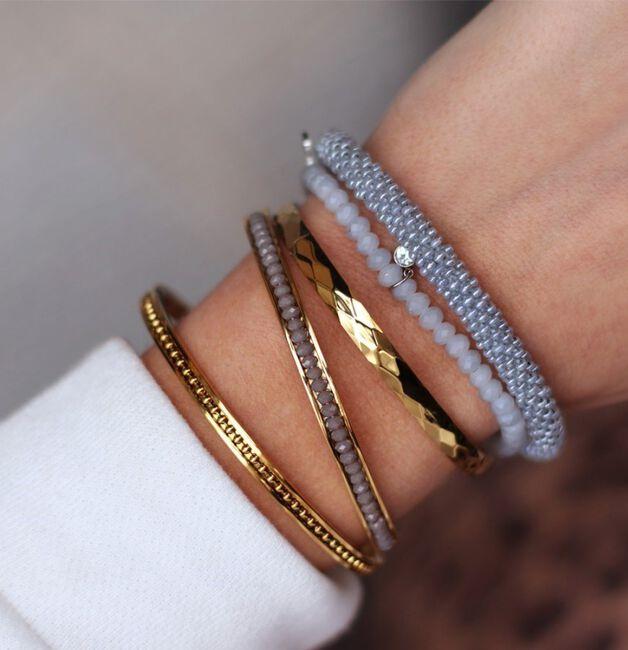 Gouden MY JEWELLERY Armband BEADS BANGLE - large