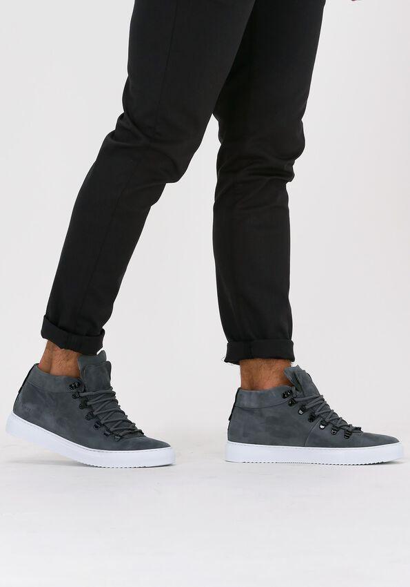 Grijze NUBIKK Hoge sneaker JASE MID  - larger