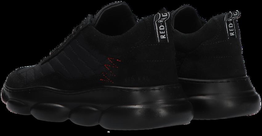 Zwarte RED-RAG Lage sneakers 13483  - larger