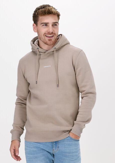 Taupe PUREWHITE Sweater PURE LOGO HOODIE - large