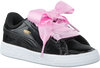 Zwarte PUMA Sneakers BASKET HEART PATENT KIDS  - small