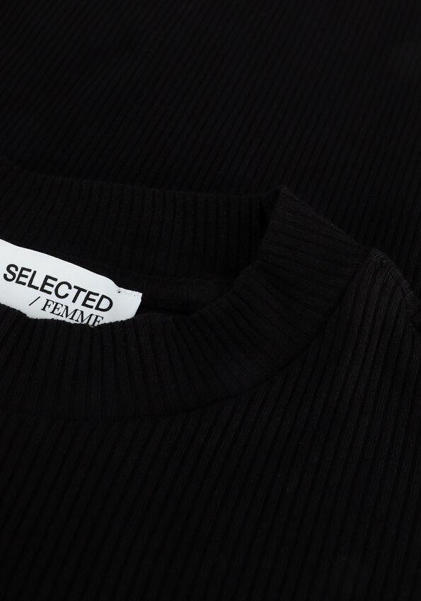 Zwarte SELECTED FEMME Top SLFANNA 2/4 CREW NECK TEE  - larger