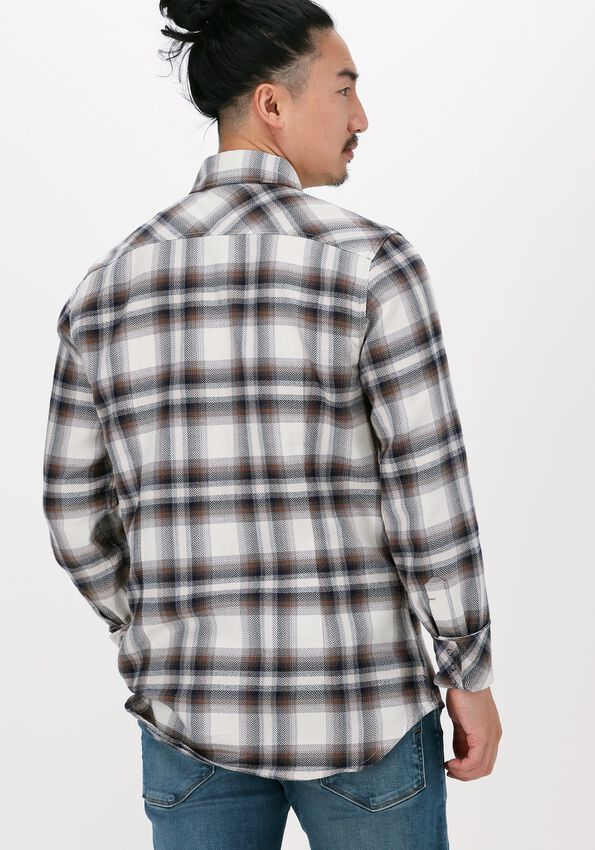 Gebroken wit G-STAR RAW Casual overhemd C841 HERITAGE HB FLANNEL CHECK - larger
