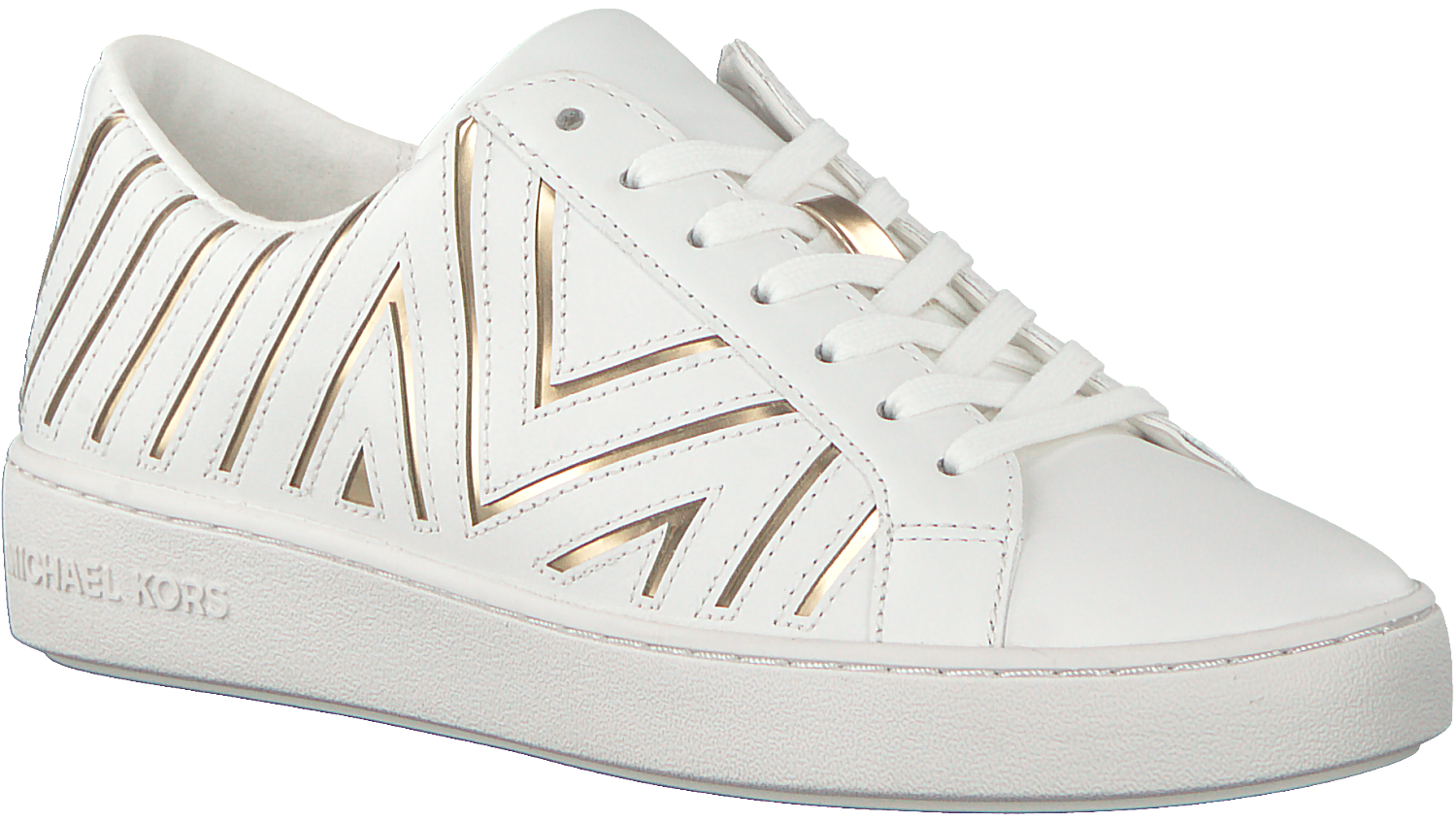 Gouden MICHAEL KORS Sneakers WHITNEY LACE UP Omoda.nl