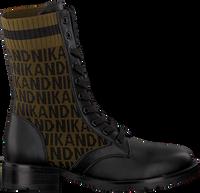 Zwarte NIK & NIK Veterboots BRANDY JACQUARD BOOTS  - medium