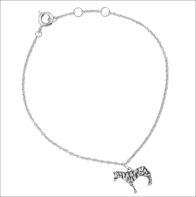 Zilveren ALLTHELUCKINTHEWORLD Armband SOUVENIR BRACELET ZEBRA - large
