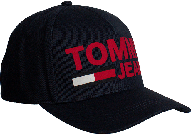 Blauwe TOMMY HILFIGER Pet TJU FLOCK PRINT CAP - large