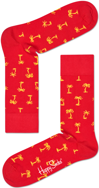 Rode HAPPY SOCKS Sokken PALM BEACH - large