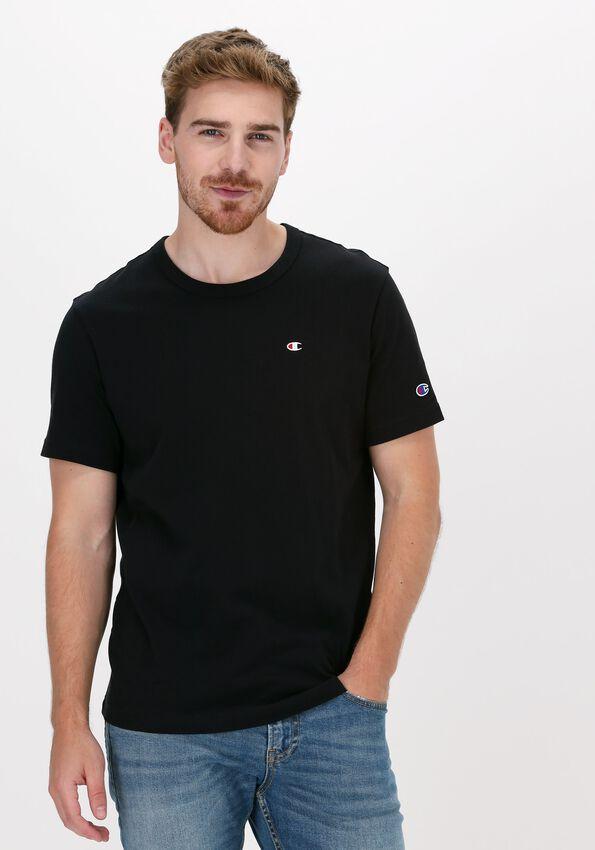 Zwarte CHAMPION T-shirt SMALL C LOGO T-SHIRT - larger