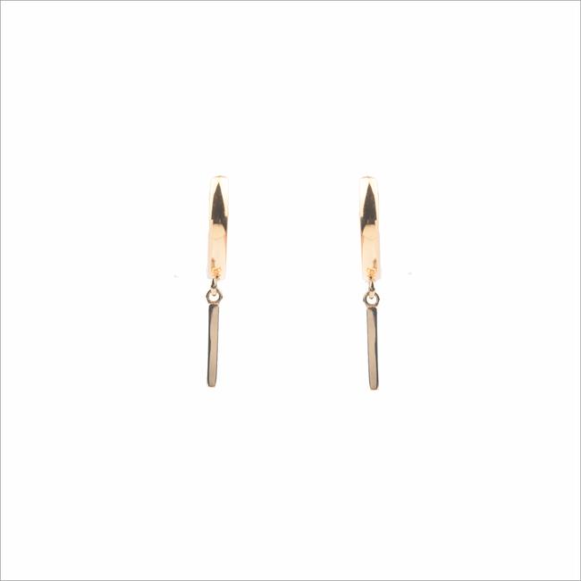 Gouden ATLITW STUDIO Oorbellen SOUVENIR EARRINGS BAR - large