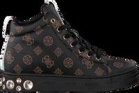 Bruine GUESS Hoge sneaker REMMY  - medium