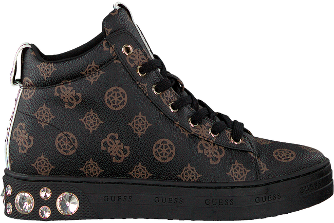 Bruine GUESS Hoge sneaker REMMY  - large