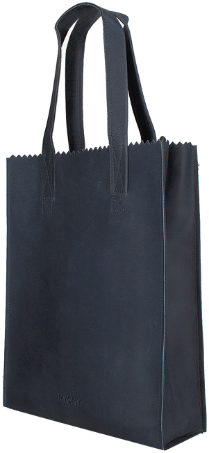 Blauwe MYOMY Handtas LONG HANDLE ZIPPER - large