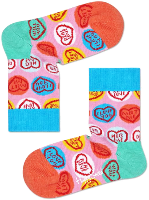 Roze HAPPY SOCKS Sokken SWEET HEART  - large