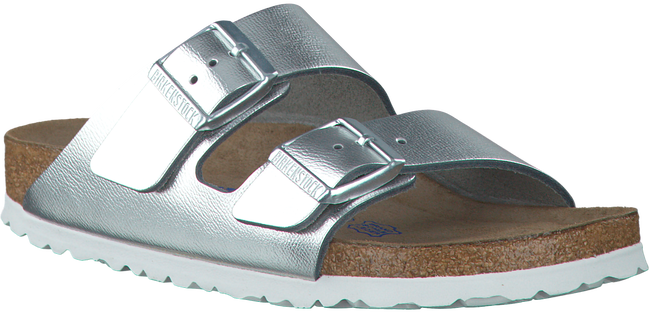 Zilveren BIRKENSTOCK PAPILLIO Slippers ARIZONA DAMES  - large