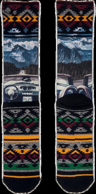 Zwarte XPOOOS Sokken ON THE ROAD - large