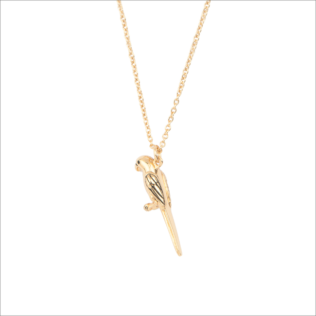 Gouden ALLTHELUCKINTHEWORLD Ketting SOUVENIR NECKLACE PARROT - large