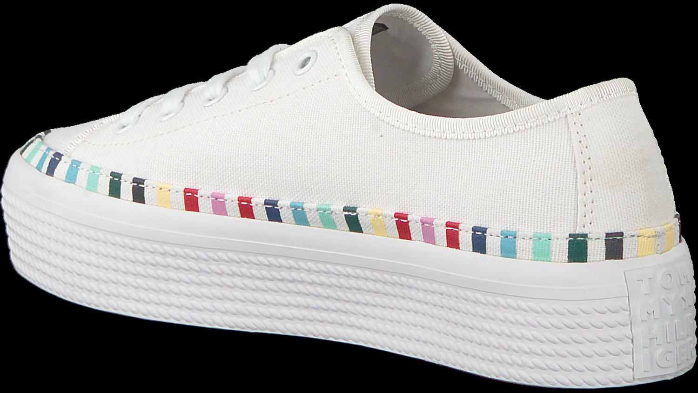 9ebe5ff1983 Witte TOMMY HILFIGER Sneakers RAINBOW PLATFORM - Omoda.nl