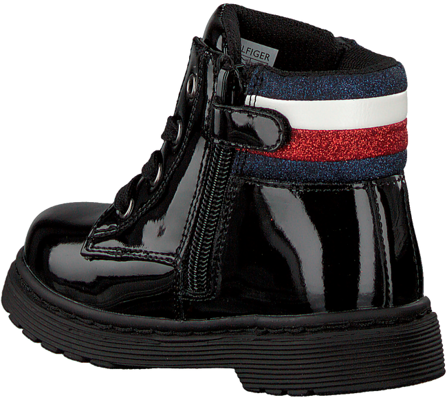 Zwarte TOMMY HILFIGER Veterboots LACE UP BOOTIE  - large