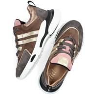 Taupe CLIC! Lage sneakers CL-20339  - medium