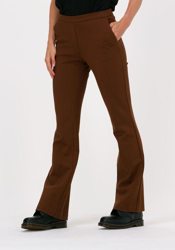 Bruine MODSTRÖM Pantalon TANNY FLARE PANTS - larger