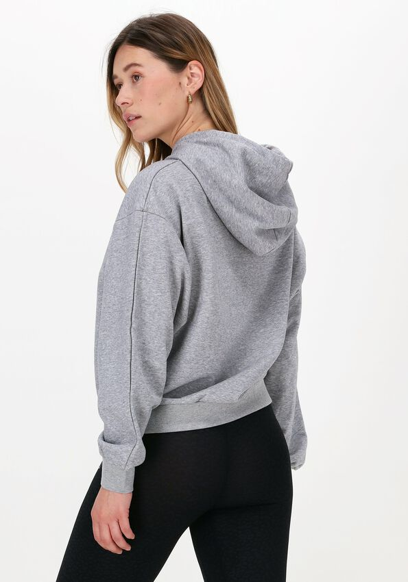 Grijze CO'COUTURE Sweater SOLID CHOPED HOODIE  - larger