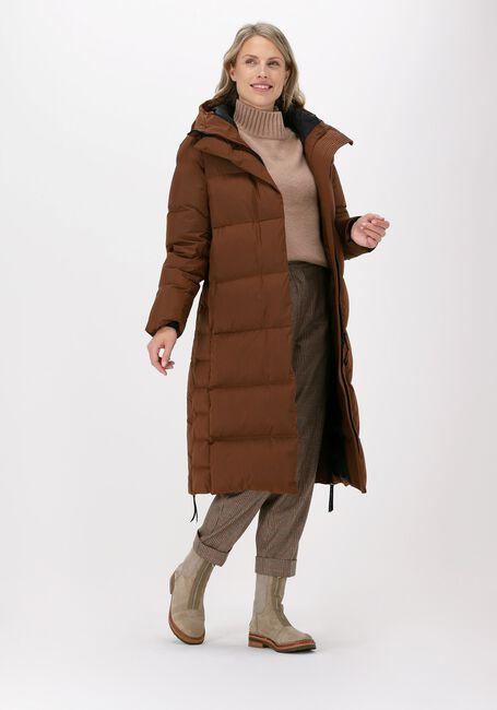Bruine KRAKATAU Gewatteerde jas QW326  - large