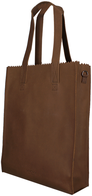 Cognac MYOMY Handtas DELUXE OFFICE - large