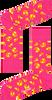Roze HAPPY SOCKS Sokken PIZZA SOCK  - small