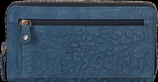 Blauwe LOULOU ESSENTIELS Portemonnee SLB LOVELY LEOPARD - large