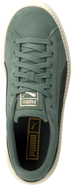 Groene PUMA Sneakers SUEDE PLATFORM TRACE - large