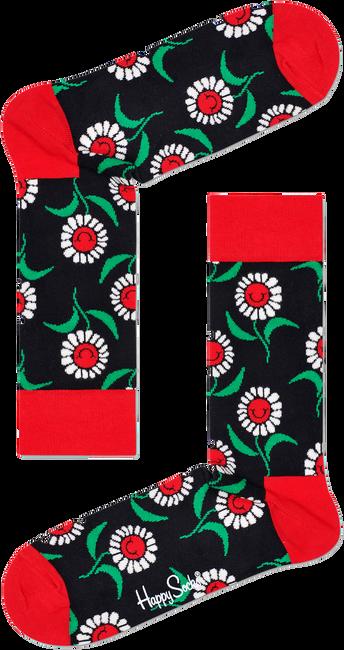 Zwarte HAPPY SOCKS Sokken SUNFLOWER SOCK  - large