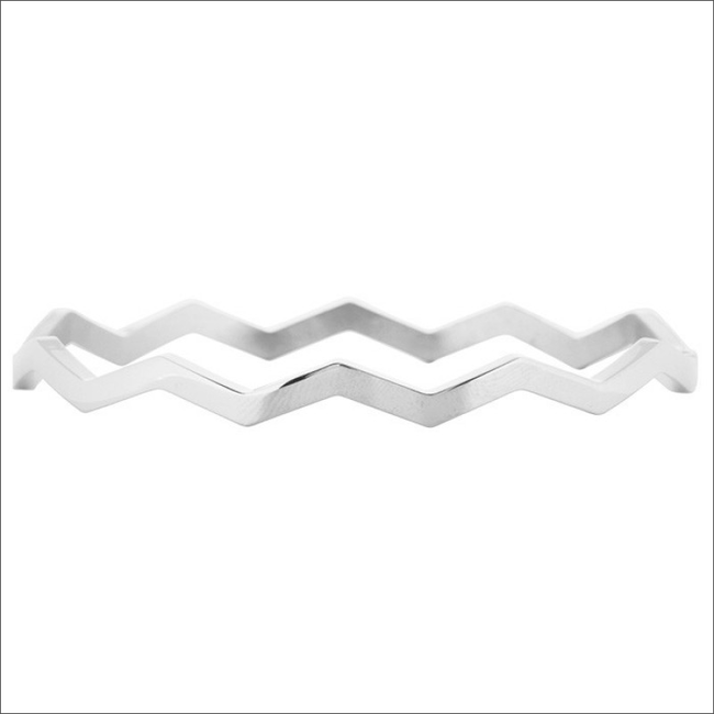Zilveren MY JEWELLERY Armband WAVE BANGLE - large