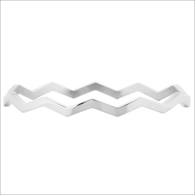 Zilveren MY JEWELLERY Armband WAVE BANGLE - large