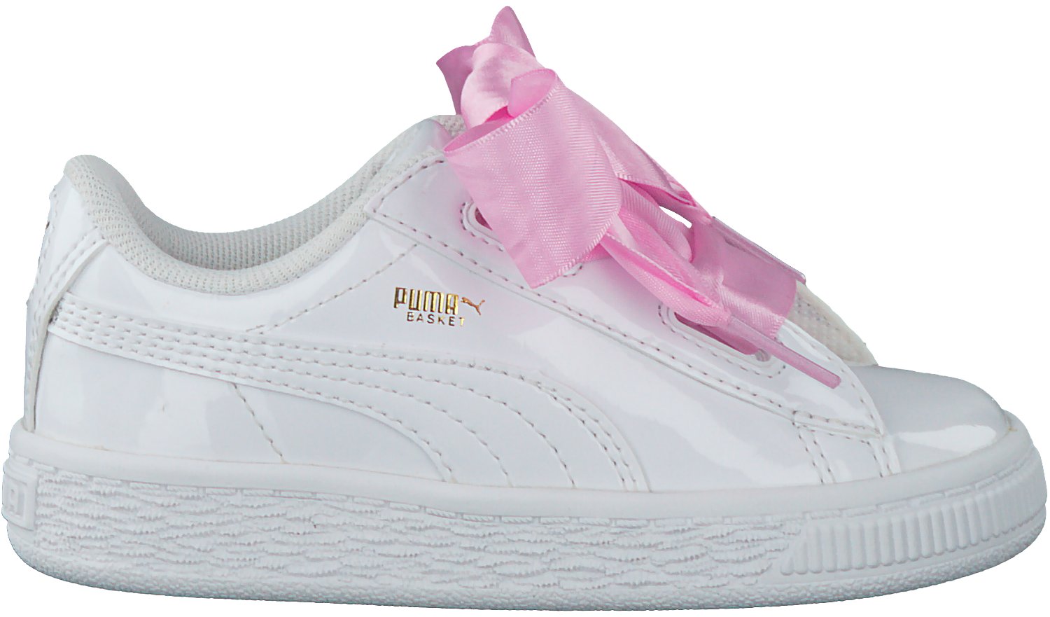 66cd632130d Witte PUMA Sneakers BASKET HEART PATENT KIDS - large. Next