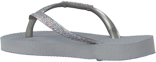 Grijze HAVAIANAS Teenslippers KIDS SLIM SHINY  - large
