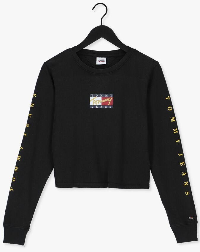 Zwarte TOMMY JEANS T-shirt TJW REG VINTAGE BRONZE 3 TEE L - larger