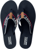 blauwe TOMMY HILFIGER Slippers TOMMY JEANS MID BEACH SANDAL  - small