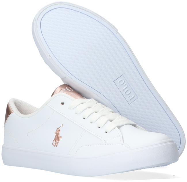 Witte POLO RALPH LAUREN Lage sneakers THERON IV  - large