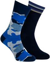 Blauwe MARCMARCS Sokken BENJAMIN  - medium