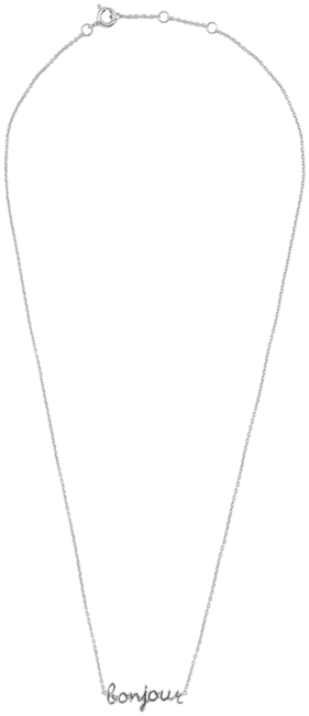 Zilveren ALLTHELUCKINTHEWORLD Ketting URBAN NECKLACE BONJOUR - large