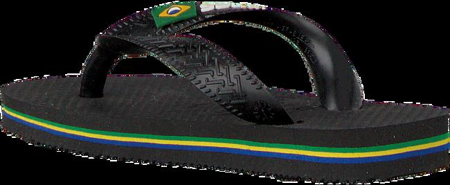 Zwarte HAVAIANAS Slippers BRASIL LOGO KIDS  - large