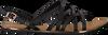 Zwarte TOMMY HILFIGER Sandalen STRAPPY FLAT SANDAL - small