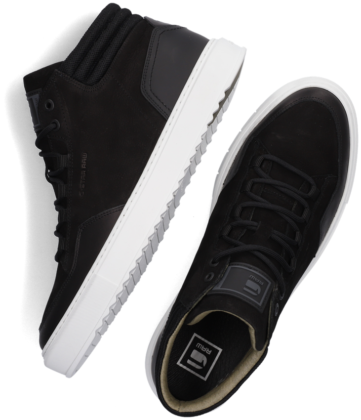 Zwarte G-STAR RAW Hoge sneaker RESISTOR MID BSC M  - larger