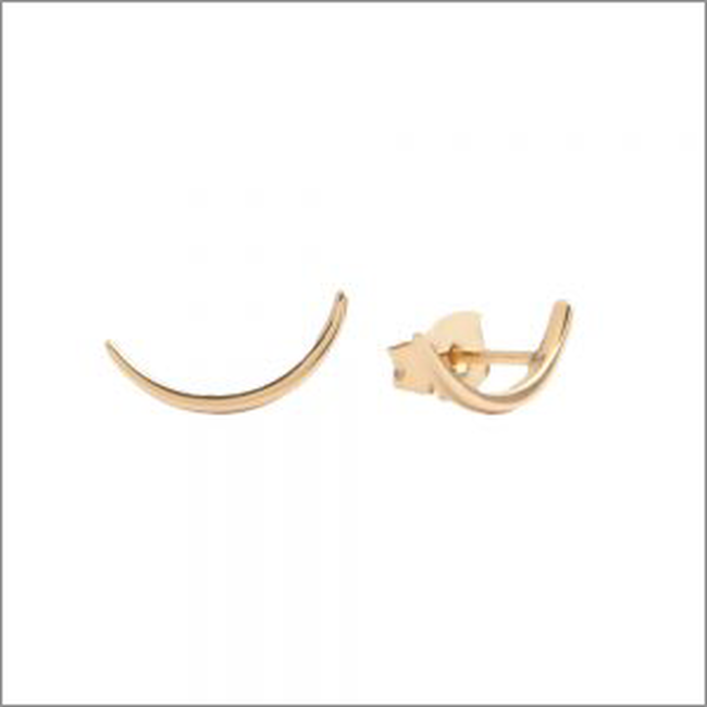 Gouden ATLITW STUDIO Oorbellen PARADE EARRINGS LONG MOON - large