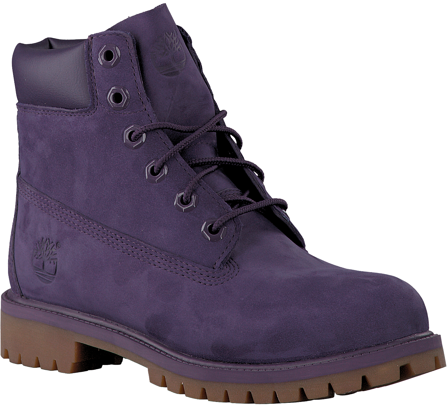 Paarse TIMBERLAND Enkelboots 6IN PRM WP BOOT KIDS Omoda